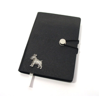 Miniature Schnauzer A6 Black Journal Notebook Dog Gift