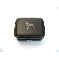 Australian Shepherd Design Small Black Travel Jewellery Box