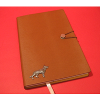 German Shepherd A5 Tan Journal Notebook Dog Gift