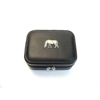 Grazing Pony Design Small Black Travel Jewellery Box Gift