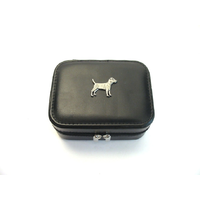 Patterdale Terrier Design Small Black Travel Jewellery Box Gift