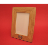 "Grazing Pony Real Oak Portrait 6"" x 4"" Photo Frame Gift"