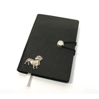 Dachshund Dog A6 Black Journal Notebook Dog Gift