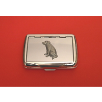 Labradour Retriever Motif Polished Stainless Steel Tobacco Tin