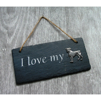 Boxer Dog Design Slate Plaque Valentine Christmas Gift