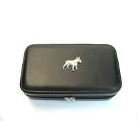 English Bull Terrier Design Large Black Travel Jewellery Box