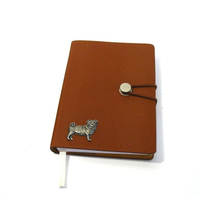 Pug Dog A6 Tan Journal Notebook Dog Gift
