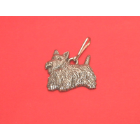 Scottish Terrier Pewter Zipper Pull Dog Gift