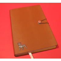 Staffordshire Bull Terrier A5 Tan Journal Notebook Dog Gift