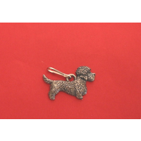 Dandie Dinmont Dog Zipper Pull Pewter Pet Gift