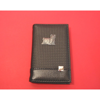Yorkshire Terrier on Faux Carbon Fibre Black Note book & Pen