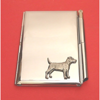 Patterdale Terrier Chrome Notebook & Pen
