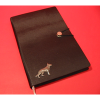 German Shepherd A5 Black Journal Notebook Dog Gift