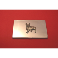French Bulldog Chrome Plated Business or Credit Card Holder