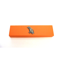 Labrador Retriever on Apricot Wooden Pen Box with 2 Pens