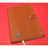 Patterdale Terrier A5 Tan Journal Notebook Dog Gift