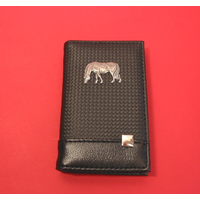 Grazing Pony/Horse on Faux Carbon Fibre Black Note book & Pen
