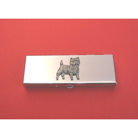 CairnTerrier Pewter Motif on Seven Day Pill Box Gift