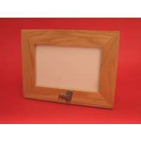 "Dachshund Real Oak Landscape 4"" x 6"" Photo Frame Dog Gift"