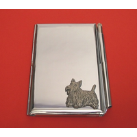 Scottish Terrier Chrome Notebook & Pen