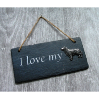 Golden Retriever Design Slate Plaque Valentine Christmas Gift