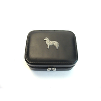 Husky Design Small Black Travel Jewellery Box Gift