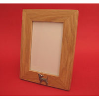 "Chihuahua Real Oak Portrait 6"" x 4"" Photo Frame Gift"