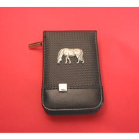 Grazing Pony/Horse Faux Carbon Fibre Black Manicure Set