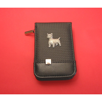 West Highland Terrier Faux Carbon Fibre Black Manicure Set