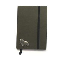 Cocker Spaniel A6 Olive Green Journal Notebook Dog Gift