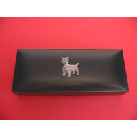 West Highland Terrier Motif on Bridge Pen Set in Black Gift Box