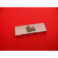 Scottish Terrier Pewter Motif on Seven Day Pill Box Gift