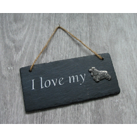 Cocker Spaniel Design Slate Plaque Valentine Christmas Gift