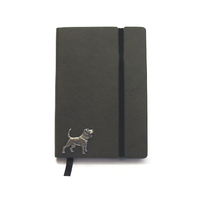 Beagle A6 Olive Green Journal Notebook Dog Gift