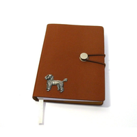 Poodle Dog A6 Tan Journal Notebook Dog Gift