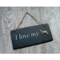 King Charles Design Slate Plaque Valentine Christmas Gift
