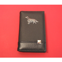 Irish Setter on Faux Carbon Fibre Black Note book & Pen