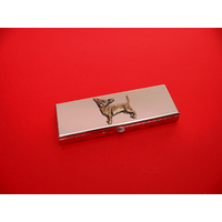 Chihuahua Pewter Motif on Seven Day Pill Box Gift