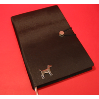 Patterdale Terrier A5 Black Journal Notebook Dog Gift