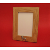 "French Bulldog Real Oak Portrait 6"" x 4"" Photo Frame Gift"