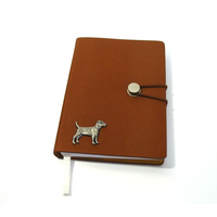Patterdale Terrier Dog A6 Tan Journal Notebook Dog Gift