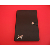 Beagle A5 Black Journal Notebook Dog Gift