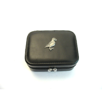 Puffin Design Small Black Travel Jewellery Box Gift