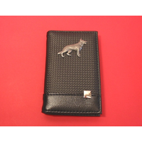 German Shepard on Faux Carbon Fibre Black Note book & Pen