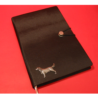 Springer Spaniel A5 Black Journal Notebook Dog Gift