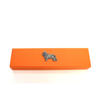 King Charles Spaniel on Apricot Wooden Pen Box with 2 Pens