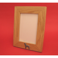 "Border Terrier Real Oak Portrait 6"" x 4"" Photo Frame Gift"