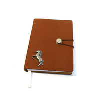 Horse Rearing A6 Tan Journal Notebook Gift