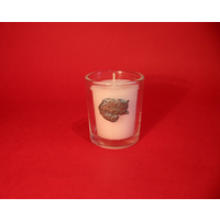 Long Haired Cat Motif On Glass Votive Candle Holder Xmas Gift