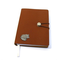 Long Haired Cat A6 Tan Journal Notebook Gift